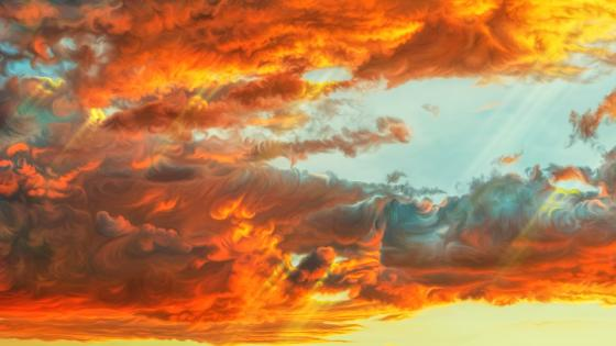 Orange Clouds wallpaper