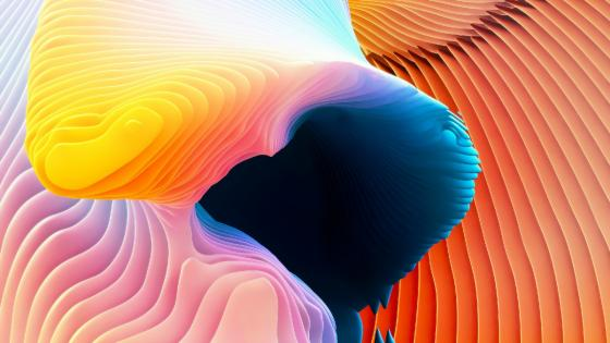 3D color abstraction wallpaper