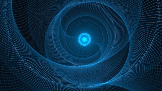 Blue vortex wallpaper