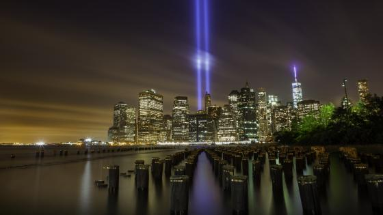 Tribute in Light - 9 11 Memorial Lights wallpaper