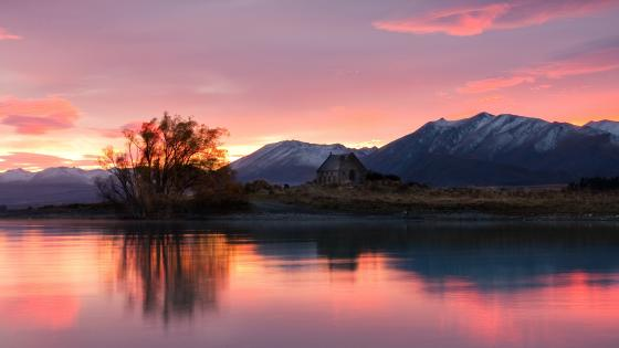 Church of the Good Shepherd (Lake Tekapo, New Zealand) wallpaper