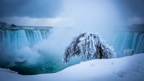 Niagara Falls in winter wallpaper