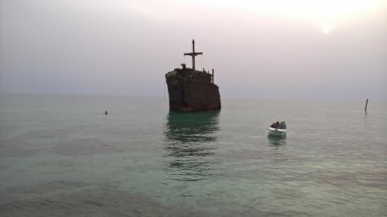 Greek Ship - Kish Island, Iran wallpaper