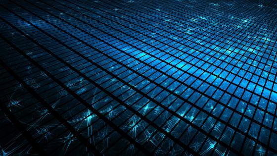 Blue blocks wallpaper