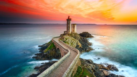 Lighthouse of Petit Minou wallpaper