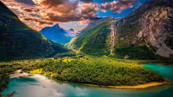 Lovatnet (Norway) wallpaper