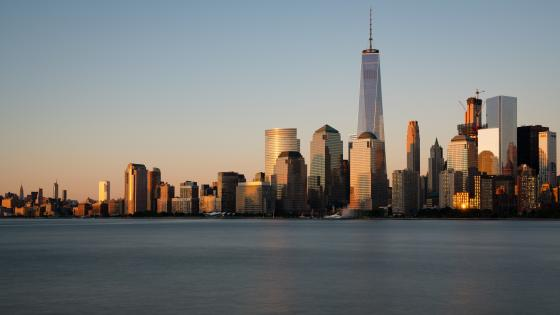 Freedom Tower and Lower Manhattan wallpaper