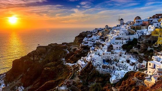 Santorini Island In Greece wallpaper