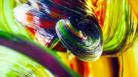 Colorful fibers wallpaper