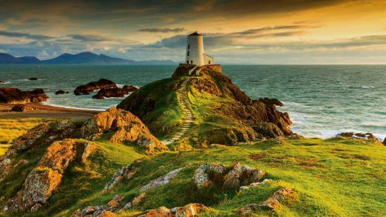 Tŵr Mawr lighthouse, Llanddwyn Island wallpaper