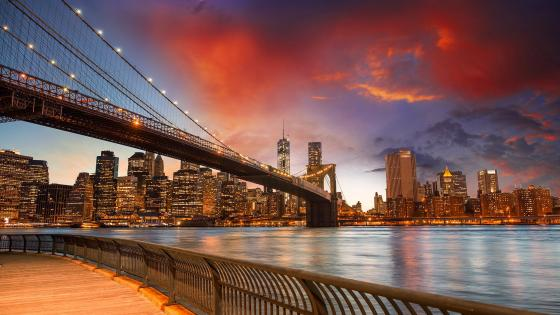 Brooklyn Bridge from Brooklyn Bridge Park wallpaper
