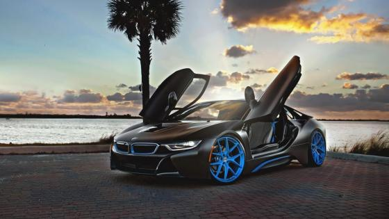 Black BMW i8 wallpaper