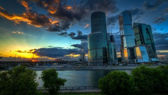 Moscow International Business Centre wallpaper