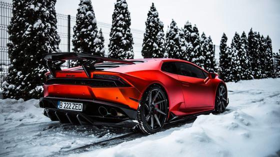 Red Lamborghini wallpaper