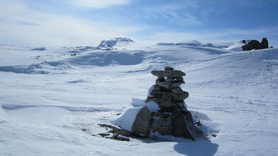 Rock stacking (Hardangervidda National Park) wallpaper