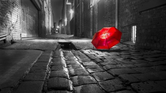 Red umbrella wallpaper