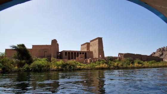 Temple on the Nile wallpaper