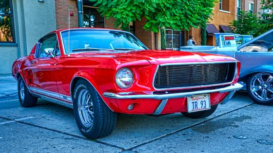 Red Ford Mustang wallpaper