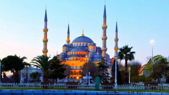 Islamic: Blue Mosque wallpaper