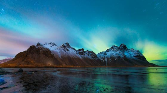 Vestrahorn, Brunnhorn, Eystrahorn - Long exposure photography wallpaper