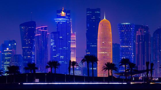Doha at dusk wallpaper