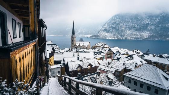 Hallstatt view wallpaper