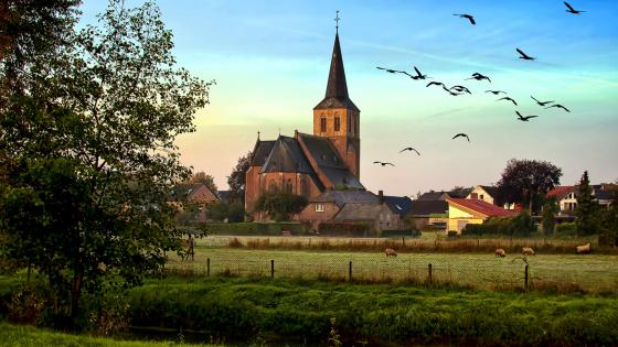 Saint Anthony the Great Church in Hanselaer, Kalkar, Germany wallpaper