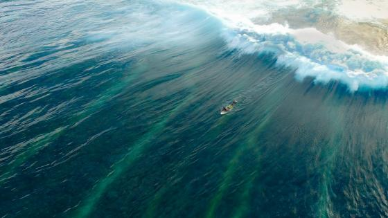 Surfing - Aerial photography wallpaper