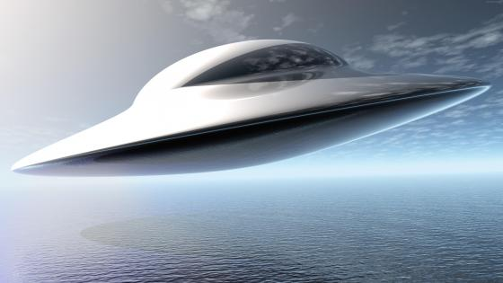 Flying saucer wallpaper