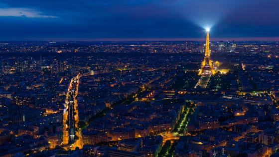 Paris skyline at night wallpaper