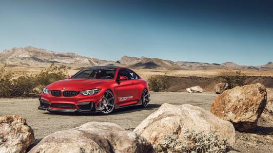 BMW M4 on Ferrada wheels wallpaper