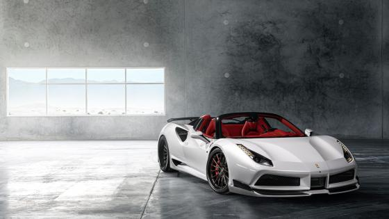 White Ferrari 488 wallpaper
