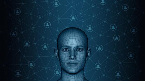 3D human face wallpaper