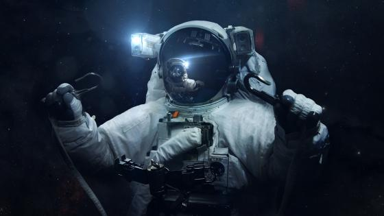 Brave spacewalk wallpaper
