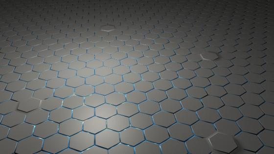 Grey hexagons wallpaper