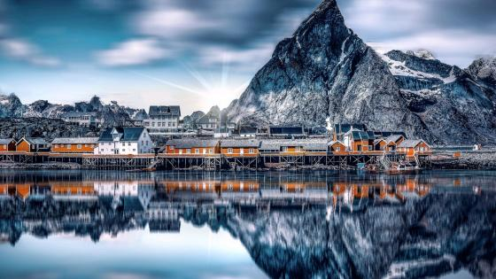 Sakrisoya Island (Lofoten, Norway) wallpaper