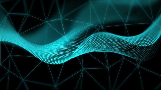 Digital wave wallpaper
