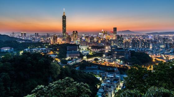 Taipei skyline wallpaper