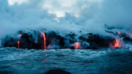 Submarine volcano eruption wallpaper