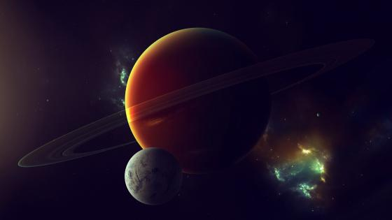 Planets in the space wallpaper