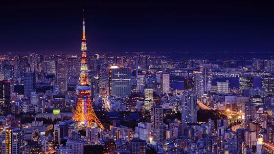 Tokyo Tower at night wallpaper