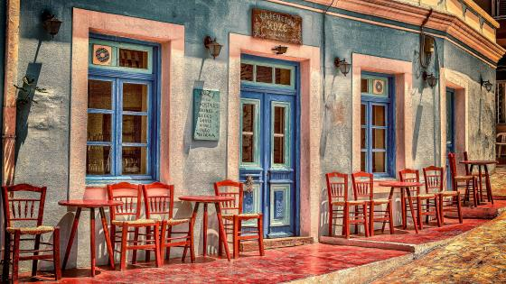Greece Restaurant in Peloponnese wallpaper