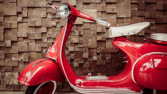 Red Vespa Piaggio from 1955 wallpaper