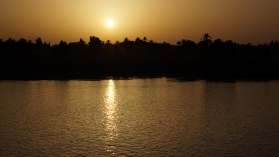 Sunset on the Nile wallpaper