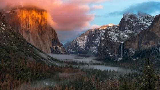 Yosemite Valley Tunnel View wallpaper