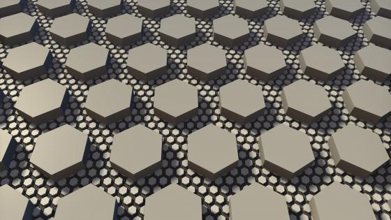 Hexahedron pattern wallpaper