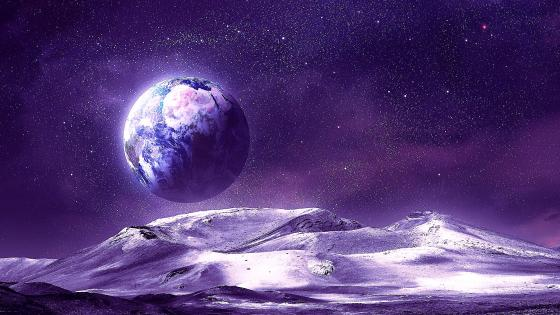 Alien landscape - Fantasy space art wallpaper