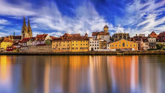 Regensburg and the Danube wallpaper