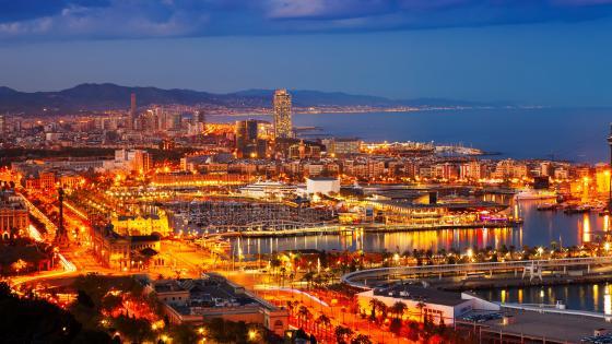 Barcelona at night wallpaper