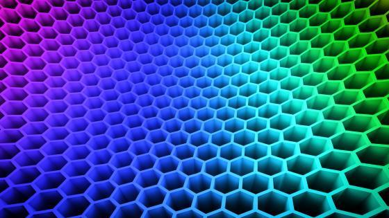 Honeycomb 3D wallpaper